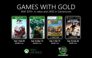 Desvelados los Games with Gold de febrero