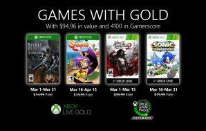 Anunciados los Games with Gold del mes de marzo