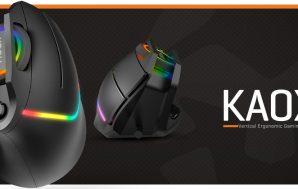 Kaox, el ratón gaming vertical de Krom, el más asequible…