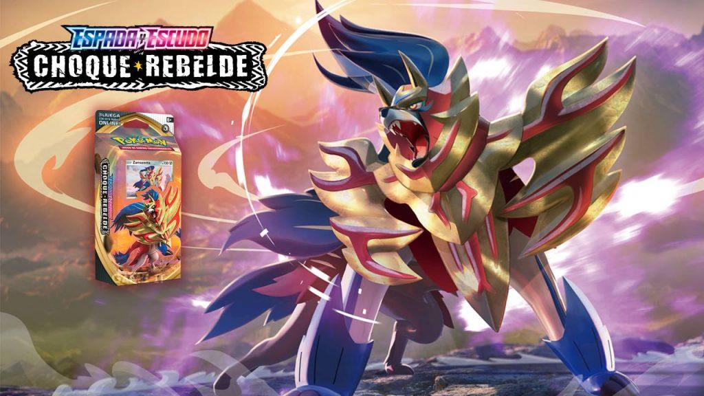 Zamazenta Baraja Temática JCC Pokémon Espada y Escudo Choque Rebelde