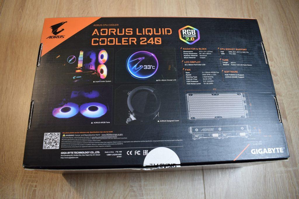 aorus liquid cooler 240 game it