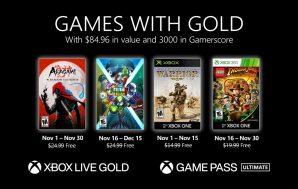 Anunciados los Games with Gold del mes de noviembre