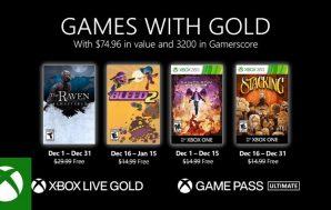 Confirmados los Games with Gold del mes de diciembre