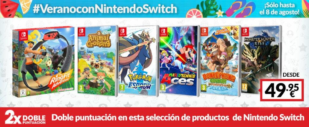 Ofertas de Verano con Nintendo Switch