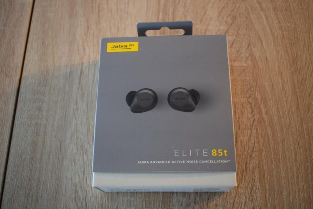 caja de los auriculares jabra elite 85t
